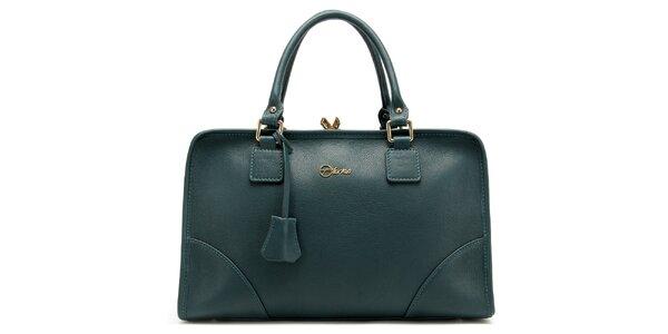 Dámska temne zelená kufríková kabelka Florian London