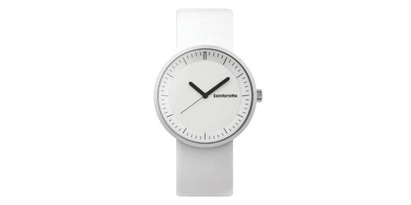Biele hodinky s bílým ciferníkem Lambretta