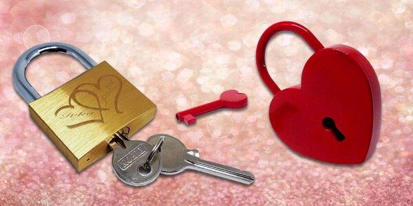 Valentínsky zámok s vlastným gravírovaním