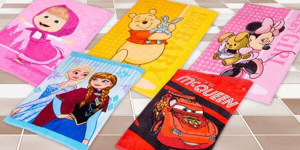 Detské froté uteráky s obľúbenými postavičkami