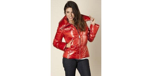 Dámska červená prešívaný bunda Trussardi