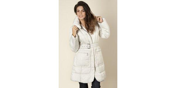 Dámsky biely prešívaný kabát Trussardi