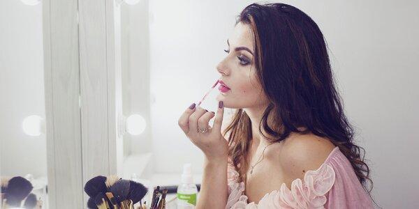 Profesionálny večerný make-up alebo minikurz líčenia