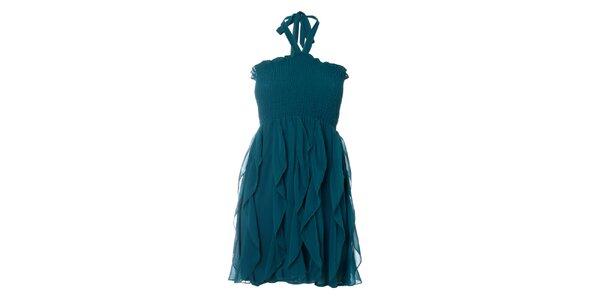 Dámske petrolejové šaty Kzell