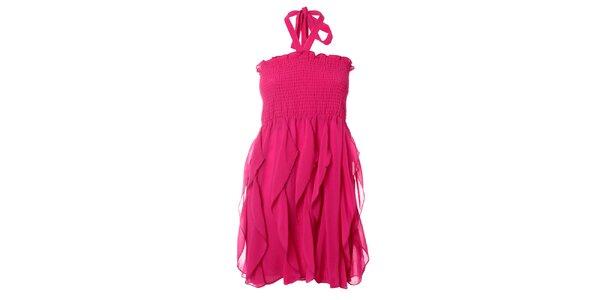 Dámske fuchsiové šaty Kzell