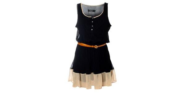 Dámske čierne šaty Kzell