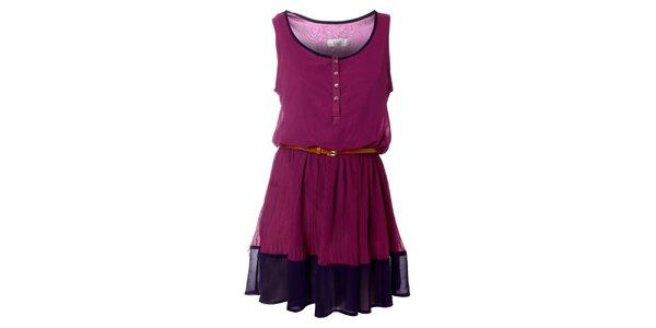 Dámske fialové šaty Kzell