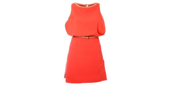 Dámske korálové šaty Kzell
