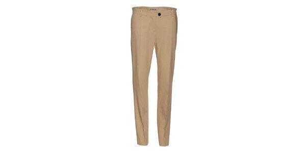 Dámske béžové nohavice Pietro Filipi s pukmi