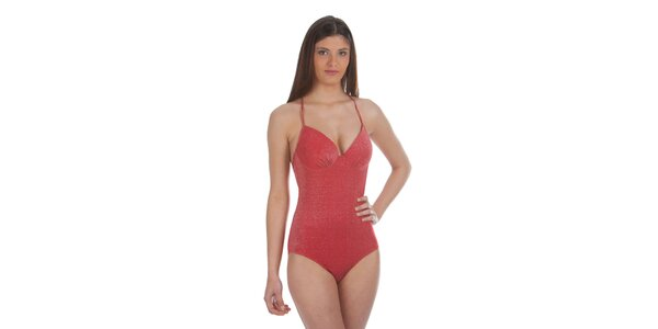 Dámske červené jednodielne plavky Cristian Lay