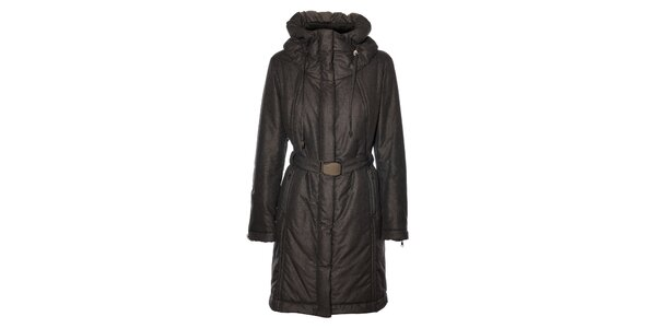 Dámsky tmavo šedý kabát Pietro Filipi