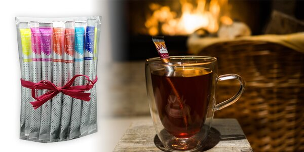 Lahodné sypané čaje Royal T-Stick v originálnom balení