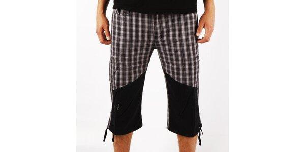 Pánske šedé kockované trekové nohavice Authority
