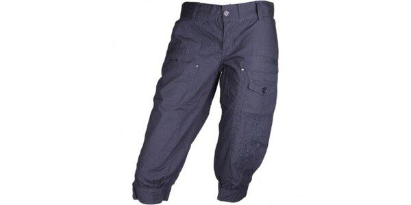 Dámske tmavo modré športové nohavice Authority v 3/4 dĺžke