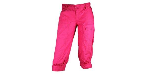 Dámske ružové športové nohavice Authority v 3/4 dĺžke
