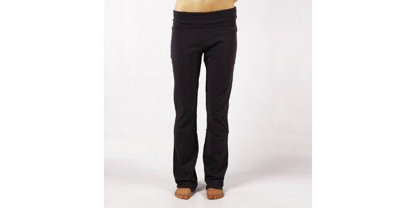 Dámske antracitové elastické nohavice Authority s vysokým lemom