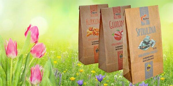 Vytvorte si svoj super balíček z Kurkumy, Guarany a Spiruliny