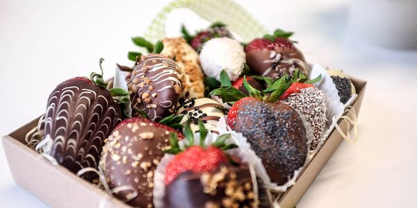 Jahodová bonboniéra alebo ovocná kytica
