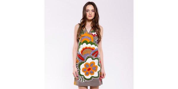 Dámske oranžovo-béžové šaty Almatrichi