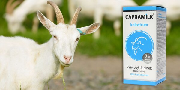 75 tbl. Kozie kolostrum CAPRAMILK (100%)