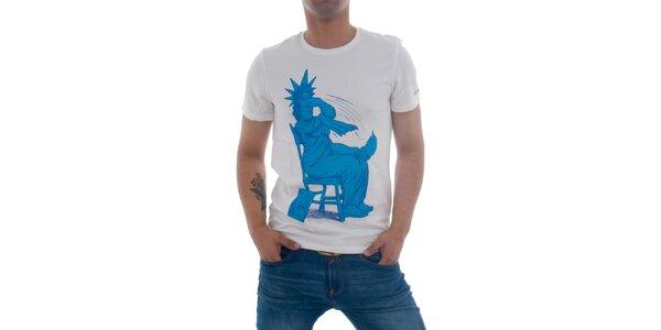 Pánske biele tričko Zoo York s vtipnou potlačou
