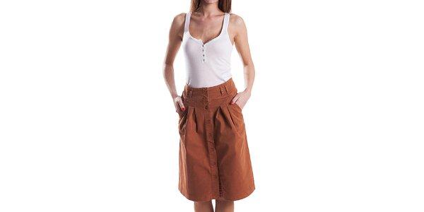 Dámska hnedá áčková sukňa Stradivarius