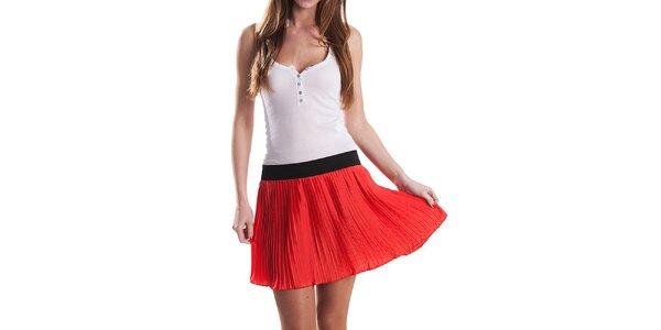 Dámska červená plisovaná sukňa Stradivarius