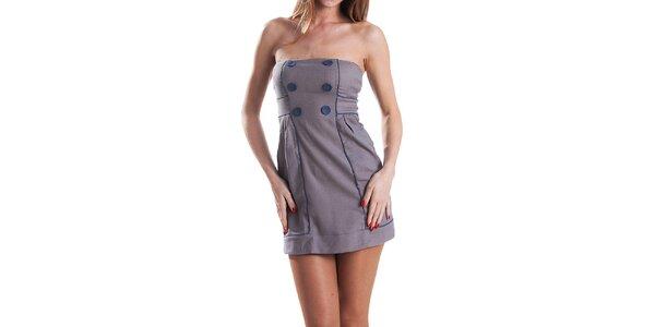 Dámske modro-šedé kockované šaty Stradivarius