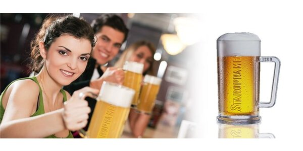 1,40 eur za pivo Staropramen 10° a hrušku Jelínek so zľavou 50%!