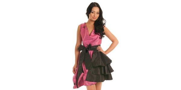 Dámske rúžovo-šedé koktejlové šaty Jolaby