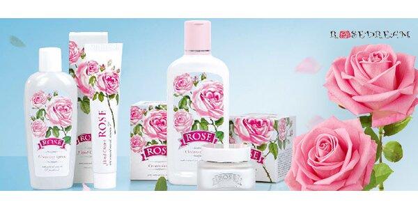 Prírodna kozmetika s ružovým olejom a liečivé vody