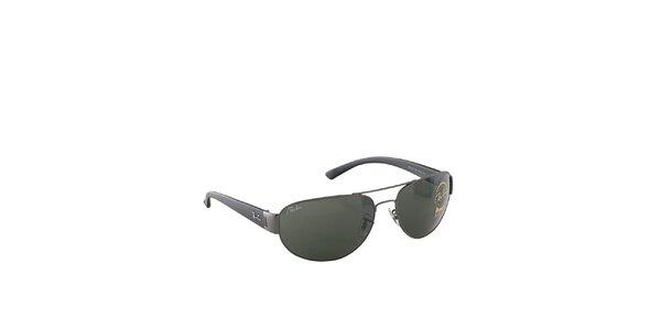 Šedé slnečné okuliare s khaki sklami Ray-Ban