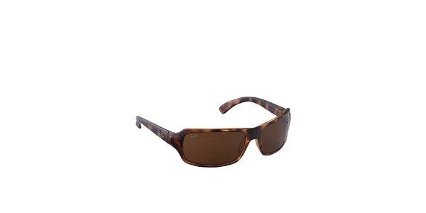 Jantárovo-hnedé slnečné okuliare Ray-Ban
