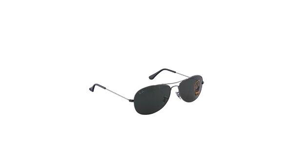 Šedé slnečné okuliare Ray-Ban