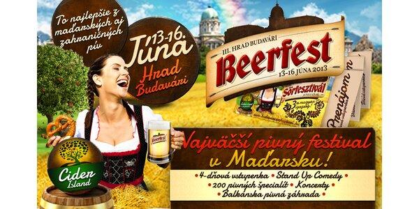 4 - dňový pivný festival v Budapešti 13. - 16. júna