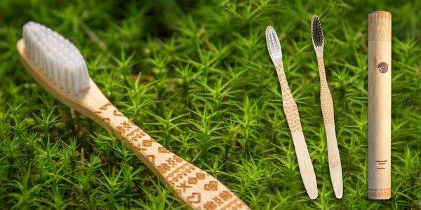 Štýlové ekologické kefky zo 100 % Moso bambusu