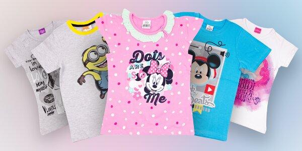Detské bavlnené tričká s krátkym rukávom