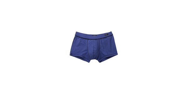 Pánske modré boxerky Impetus s čiernymi lemami