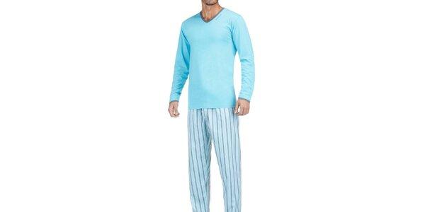 Pánske svetlé modré pyžamo Impetus