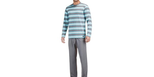 Pánske šedo-modré pyžamo Impetus