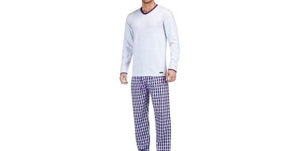 Pánske modro-fialové pyžamo Impetus