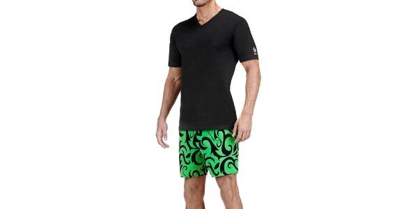 Pánske čierno-zelené pyžamo Impetus