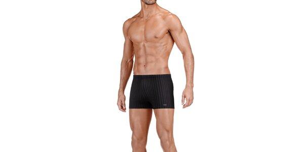 Pánske čierne prúžkované boxerky Impetus