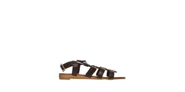 Dámske hnedé indiánské sandálky Yook for you