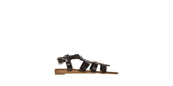 Dámske čierne indiánské sandálky Yook for you