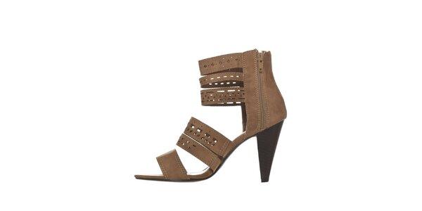 Dámske ťavie perforované sandálky na podpätku Yook for you