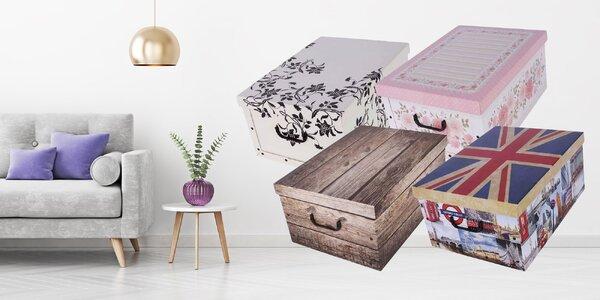 Dekoračná úžitková krabica z pevného papiera!