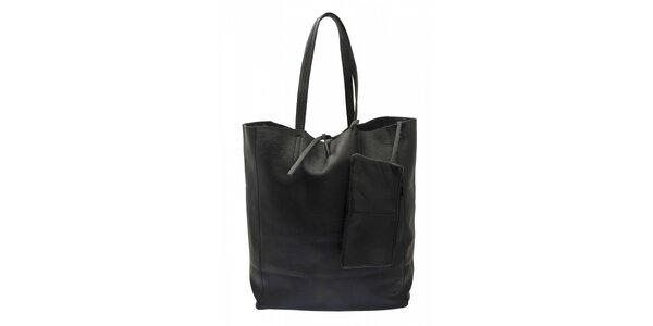 Dámska čierna kožená kabelka Free for Humanity