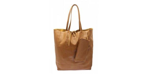 Dámska ťavia kožená kabelka Free for Humanity