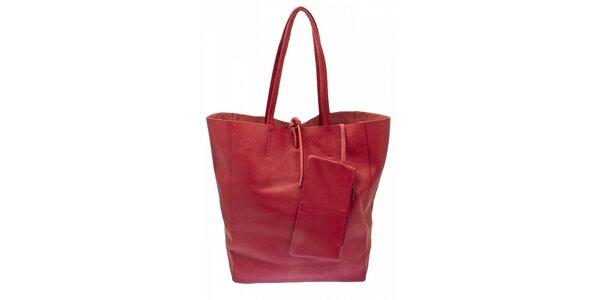 Dámska červená kožená kabelka Free for Humanity